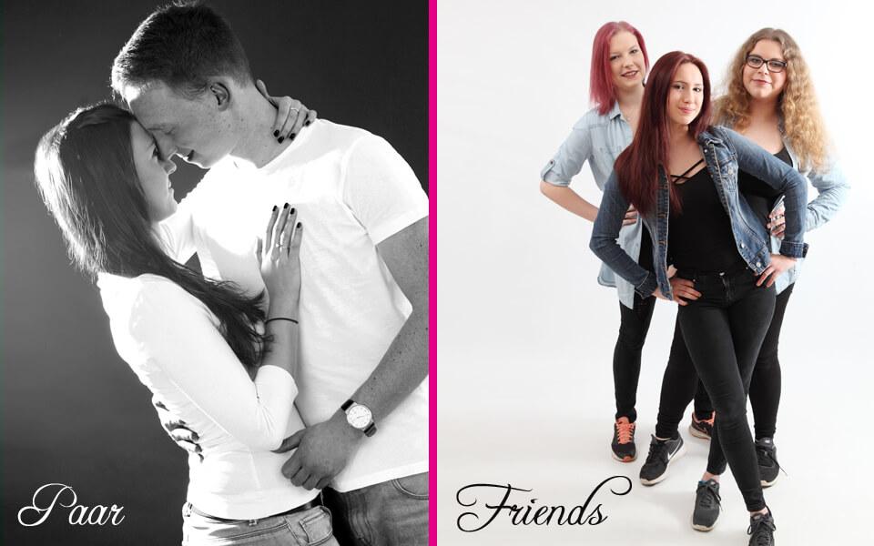 Paarshootings für Pärchen, Geschwister oder Freunde im trendsetter Fotostudio