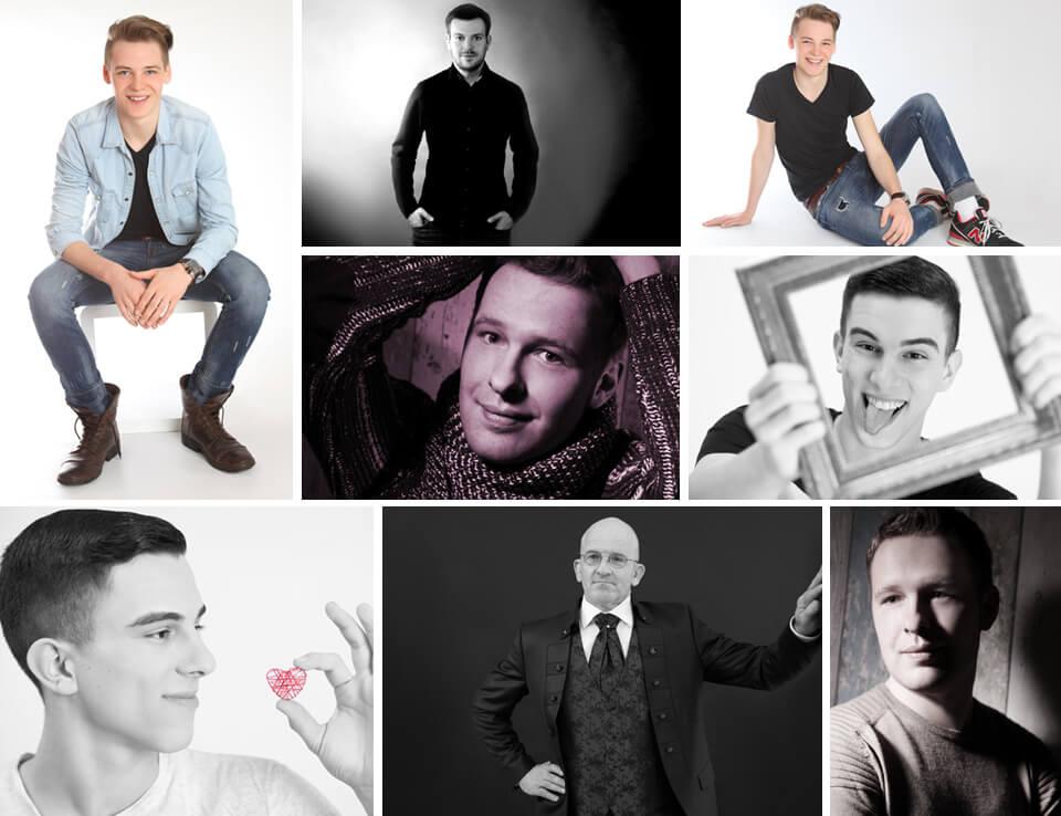 Portrait Fotoshooting Man im trendsetter Fotostudio