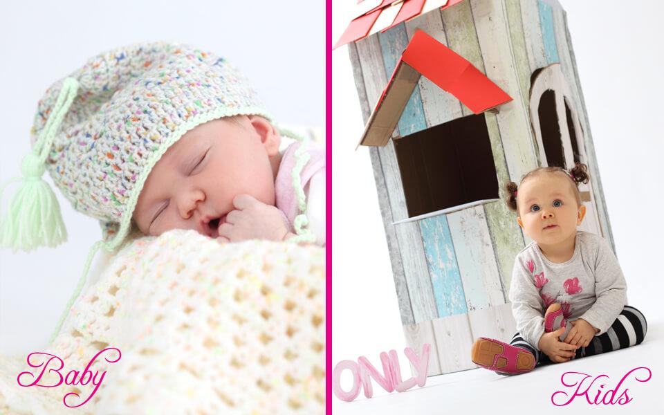 Baby- und Kinder Fotoshooting im trendsetter Fotostudio