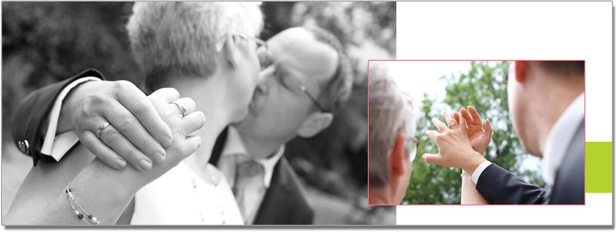 Hochzeitsalbum-Innenseite vom trendsetter Fotostudio Chemnitz