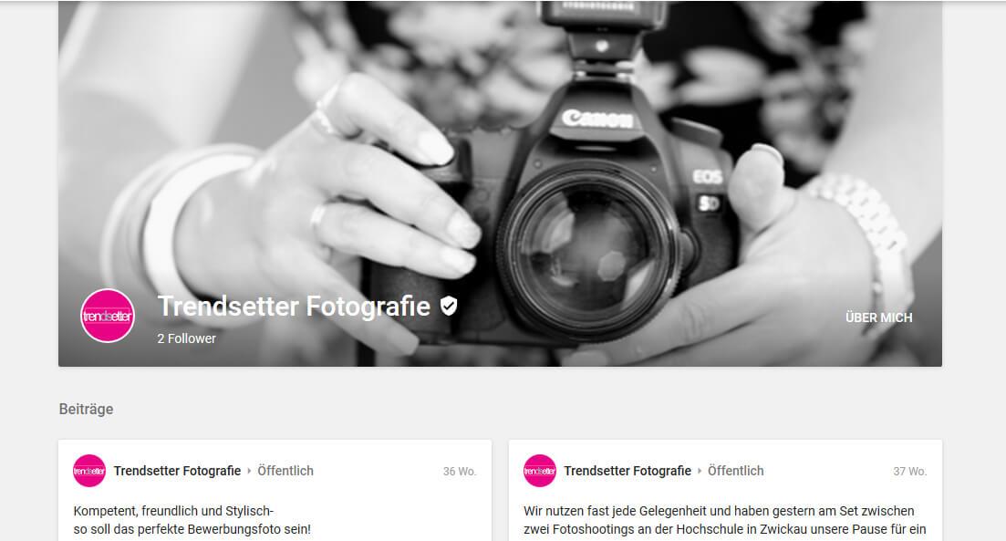 Headerbild von trendsetter Fotostudo bei google+
