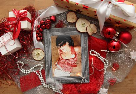 Weihnachtsdeko mit Bilderrahmen