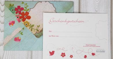 Geschenkgutscheine, individuellem Design, exklusive Gutscheine