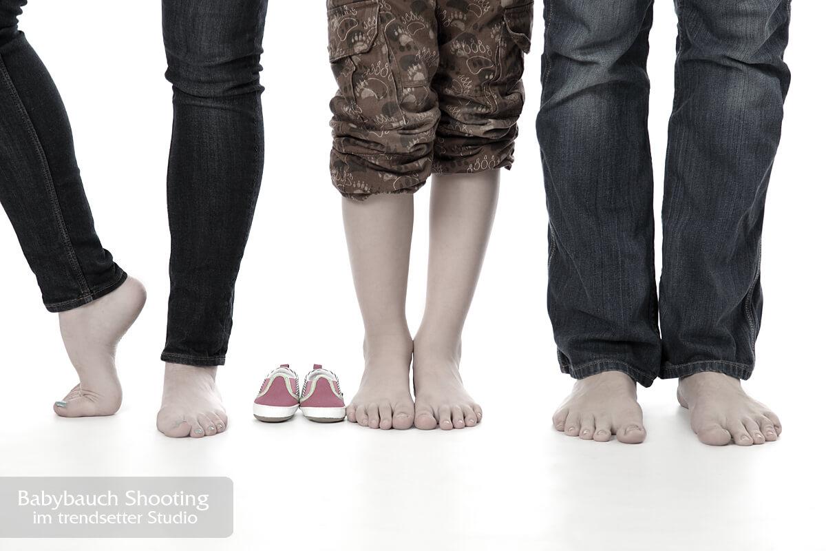 Schwangerschaftsfotoshooting oder Babybauchfotoshootings im trendsetter Studio
