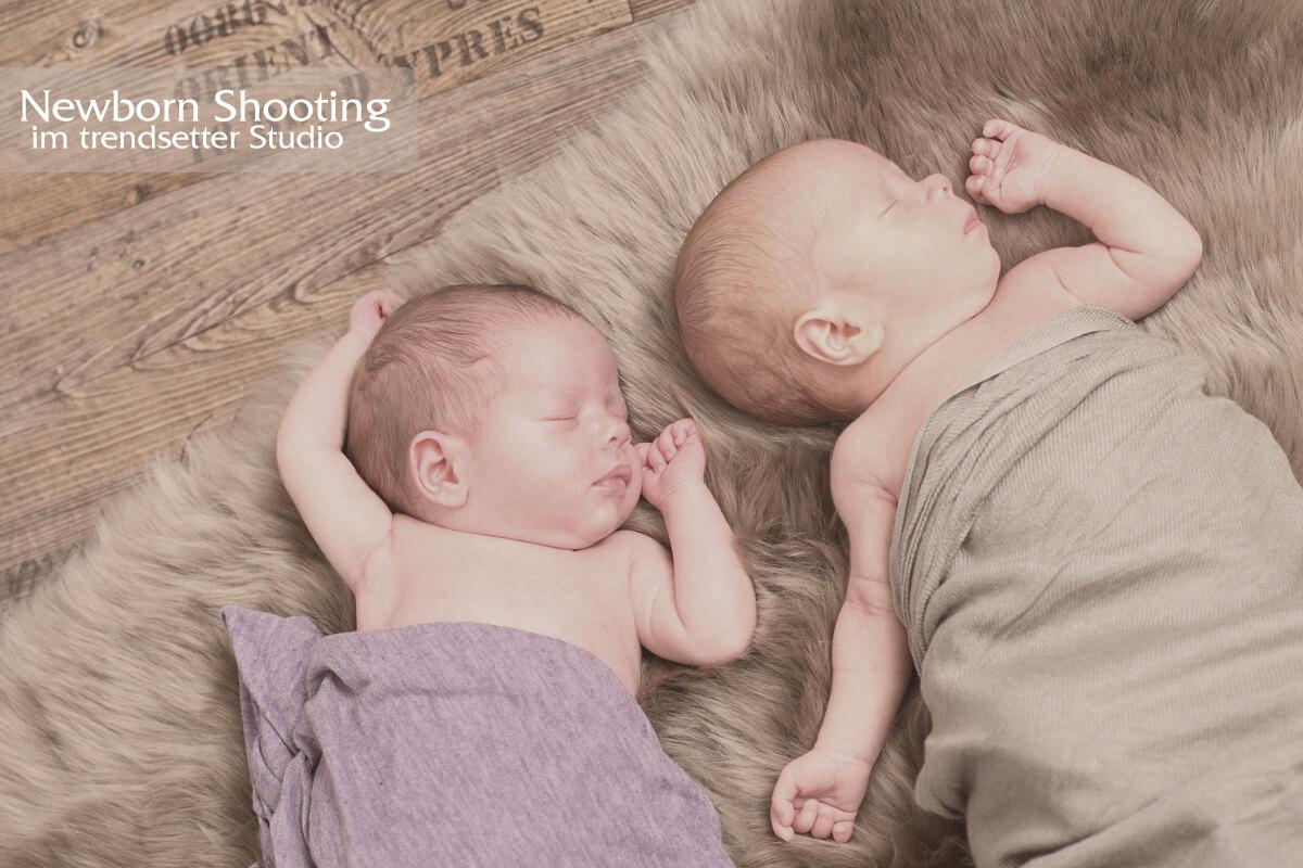 Newborn Fotoshooting im trendsetter Fotostudio