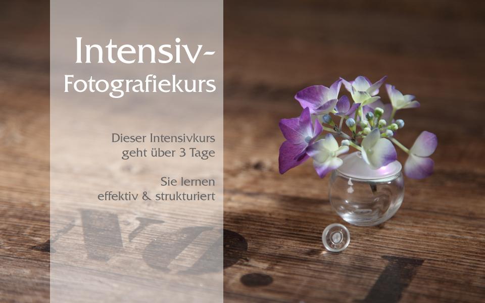 Der Intensiv-Fotografiekurs geht über 3 Tage und sie lernen effektiv und strukturiet in kleinen Gruppen bei trendsetter im Fotostudio in Chemnitz