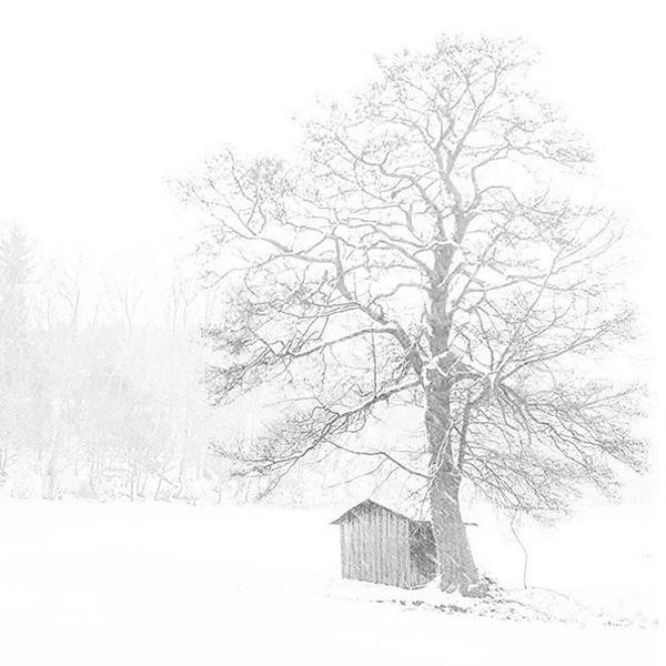 Im Winterurlaub, bei Schneetreiben schaue ich mich oft um und suche nach markanten Bildmotiven in meiner Umgebung.