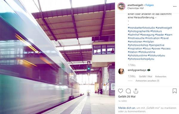 Bei unserem Fototkurs an Schulen machten wir halt auf dem Chemnitzer Hauptbahnhof.
