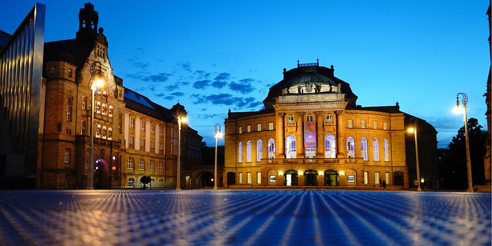 zur blauen Stunde in Chemnitz auf Fototour