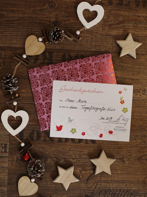 Unsere trendsetter Weihnachts-Geschenk-Gutscheine sind ganz einfach auch online bestellbar.