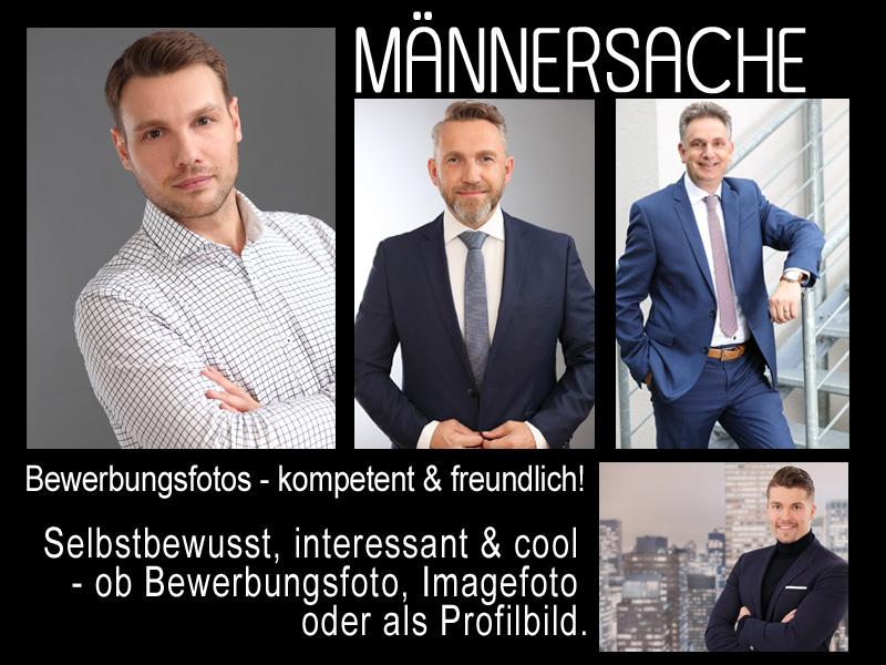 Männersache - Bewerbungsfotos kompetent und freundlich, selbstbewusst, interessant und cool, so sehen Bewerbungsfotos vom trendsetter Fotostudio aus.